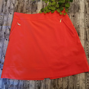 Tail Brand Tennis Skirt Ladies Sz 6 Bright Orange